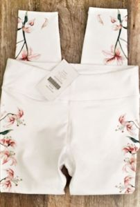 Leggings floral and white sz med nwt